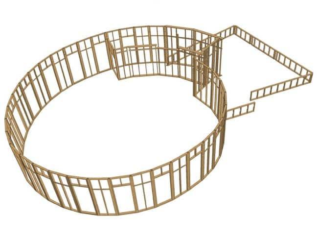 MOB - Les Brouzils - 3D ossature étage